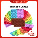 Ready Stock Silicone 6 8 Cavity Mini Donut Mold Mould Baking Accessories Oven Bake Acuan Donut
