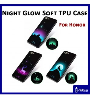 Night Glow Soft Tpu Back Case Cover for Huawei Honor 7X 9 Lite View 10 V10