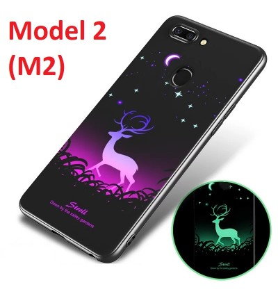 Night Glow Soft Tpu Back Case Cover for Oppo R9s R15 Pro A59 A77 F1s F3