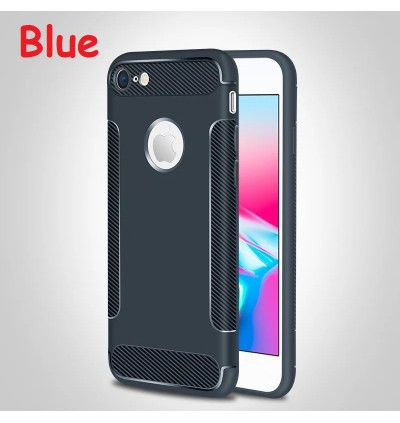 Carbon Fiber Soft Case Cover for iPhone 5 5S SE 6 6s 7 Plus X