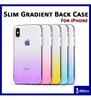 iPhone 6 6s 7 8 Plus X Xs Fashionable Slim Gradient TPU Soft Back Case Back Cover