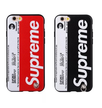 (Free lanyard) Fashion Supreme Soft Back Case for iPhone 6 6s 7 8 Plus X Xs