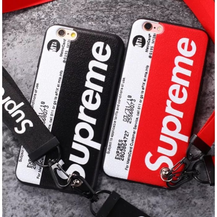 official photos 2fa8d 42c52 Free lanyard) Fashion Supreme Soft Back Case for iPhone 6 6s 7 8 ...