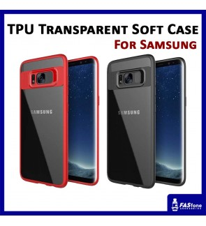 TPU Frame Protection Transparent PC Back Case Samsung S7 Edge S8 S9 Plus Note 8