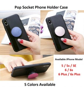 Pop Socket Phone Holder TPU Soft Cover For IPhone 5 5s SE 6 6s Plus