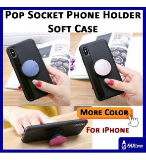 Pop Socket Phone Holder TPU Soft Cover For IPhone 7 8 Plus X Xs