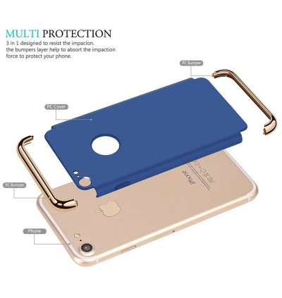 3 in 1 Apple iPhone 3 Layer Ultra Thin Hard Back Case for iPhone 7 7 Plus