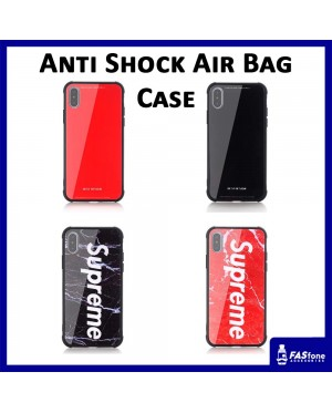 Air Bag Antishock TPU Glass Back Cover Case for iPhone 6 6s Plus 7 8 X Xs