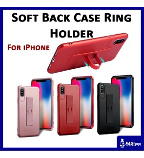 Soft Back case cover with ring holder Apple iPhone 5 5s Se 6 6s 7 8 Plus X Xs