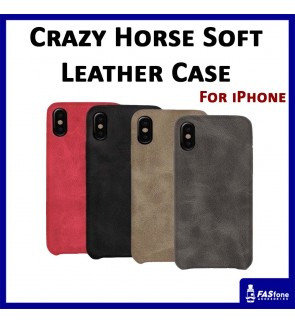 Crazy Horse Soft PU Leather Case for iPhone 5 5s SE 6 6s Plus