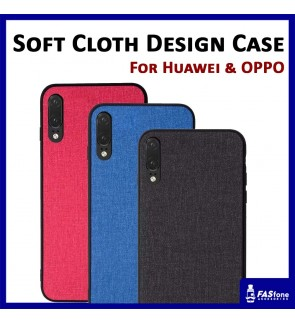 Soft Cloth Design Back Case for Huawei P20 Pro Oppo R15 Pro F7