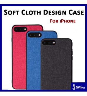 Soft TPU Side PC Back Cloth Design Back Case for iPhone 6 6s 7 8 Plus X