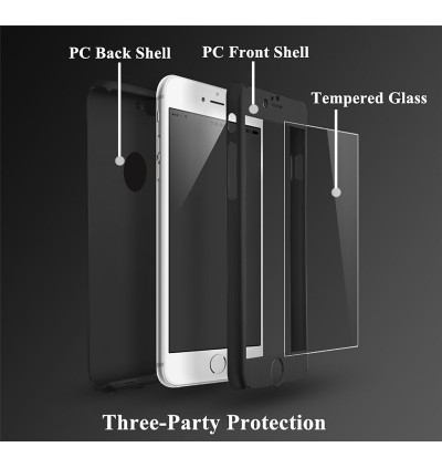 360 Degree Coverage Phone Slim Hard PC Cover for Apple iPhone 7 7 Plus