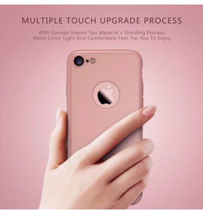 360 Degree Coverage Phone Slim Hard PC Cover for Apple iPhone 8 8 Plus