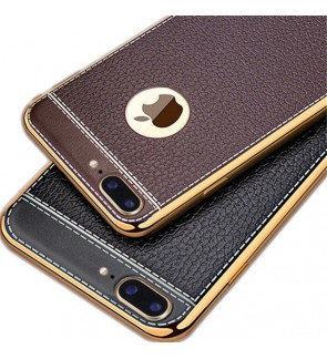 Fashion Luxury Leather Soft Back Cover for Apple iPhone 5 5S SE 6 6S 7 Plus