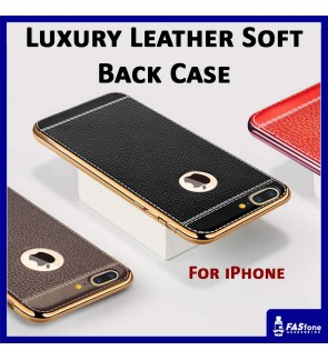 Apple iPhone 5 5S SE 6 6S 7 8 Plus Fashion Luxury Leather Soft Back Cover Back Case