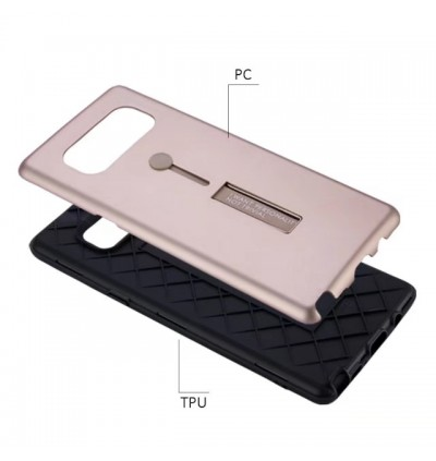 Multi Purpose Rind Stand PC TPU Back Case for Vivo V5 Plus Y55 Y66