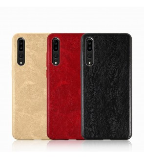 Crazy Horse Leather Slim Hard Case for Huawei P10 Lite P20 Pro
