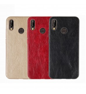 Crazy Horse Leather Slim Hard Case for Huawei Nova 2i  / Nova 3E / Nova Lite