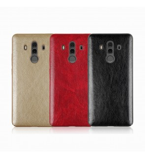 Crazy Horse Leather Slim Hard Case for Huawei Mate 10 10 Pro Honor 9 Lite 10