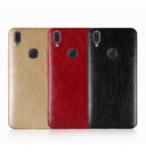 Crazy Horse Leather Slim Hard Case for Vivo V7 V9