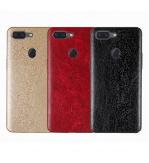 Crazy Horse Leather Slim Hard Case for Oppo F1S A59 F5 F7 R9S R15 Pro