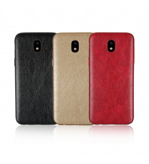 Crazy Horse Leather Slim Hard Case for Samsung J2 J3 J5 J7 2016 2017 PRIME PRO