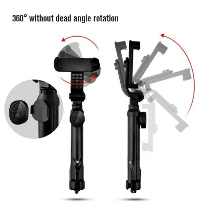 FREE Pouch 360 Bluetooth Selfie Stick Monopod Tripod IOS / Android 3 In 1