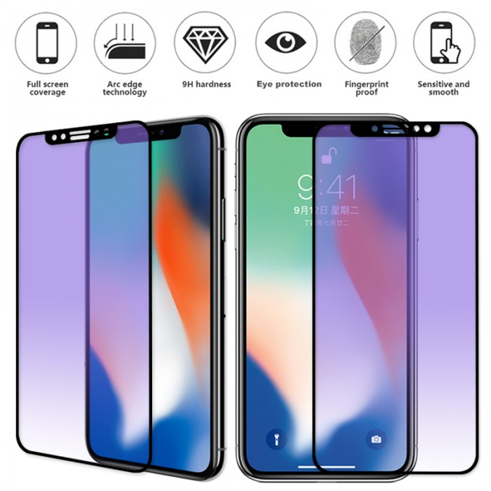 Image result for full matte anti blue glass iphone