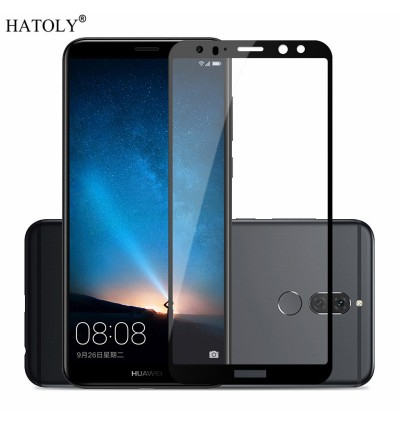 Carbon Fiber Full Cover Tempered Glass for Huawei Mate 10 Pro HONOR VIEW 10