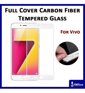 Carbon Fiber Full Cover Tempered Glass for Vivo V3 Max V5 V7 Plus Y55
