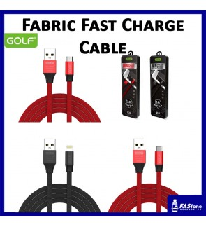 Golf Fabric Fast Charge Micro Usb Apple Lightning Type C Usb Cable GC-55