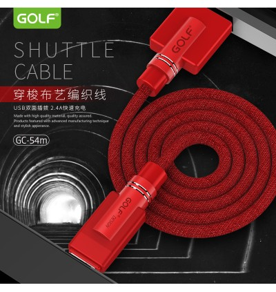 Golf Fabric Fast Charge Micro Usb Apple Lightning Type C Usb Cable GC-54