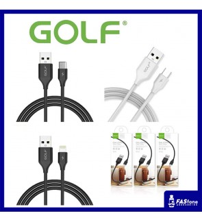 Golf Fast Charge Galloping Sync Apple Lightning Micro USB Type-C Cable GC-59