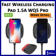 Golf Qi Smart Quick Fast Wireless Charger Pad 10W 1.5A WQ5 PRO