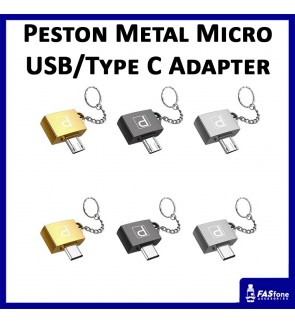 Peston Quality Fashion Metal Micro Usb Type C Otg Adapter for Android Device