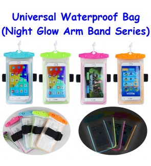 Night Glow Arm Band Universal Waterproof Bag  for Smartphones (4 Colors)