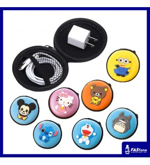 Cartoon Earphone Cables Coins Pouch / Holder / Organizer