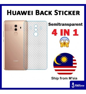 Huawei Mate 7 8 9 10 20 20x P9 P10 Lite Plus P20 P30 Pro P40 PRO Carbon Back Sticker