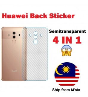 Huawei Mate 7 8 9 10 20 20x P9 P10 Lite Plus P20 P30 Pro Carbon Back Sticker