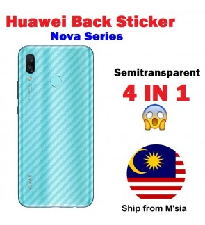 Huawei Nova 3 3i 3e 2i 4 Carbon Fiber Back Sticker Best Quality