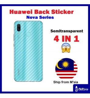 Huawei Nova 5T 7I 3 3i 3e 2i 4 4E Carbon Fiber Back Sticker Best Quality