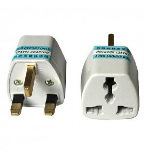 Universal Travel UK Wall 3 Pin Plug Adapter Socket
