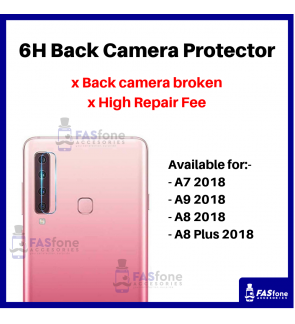 HD Samsung A7 A8 A9 Plus 2018 Back Camera Tempered Glass Protector 6H