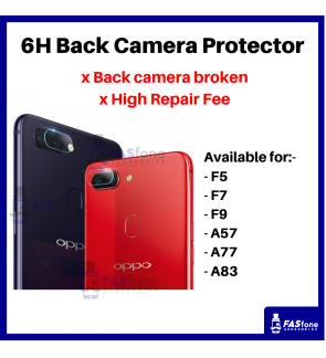 HD OPPO F5 F7 F9 A57 A77 A83 Back Camera Tempered Glass Protector 6H