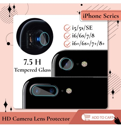 HD iPhone 5 5s SE 6 6s 7 8 Plus Back Camera Tempered Glass Protector 6H