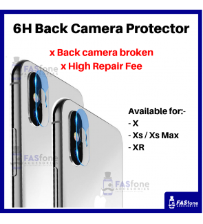HD iPhone X Xs Max XR Back Camera Tempered Glass Protector 6H