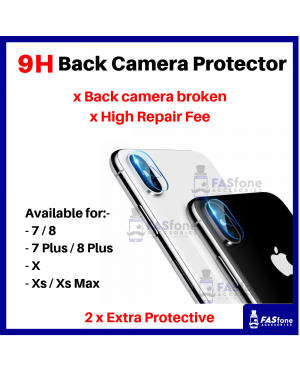 HD iPhone 7 8 Plus X Xs Max Back Camera Tempered Glass Protector 9H