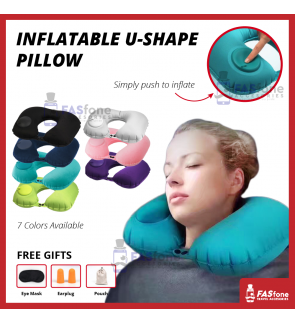 2019 Inflatable Travel Neck Pillow Soft Air U Shape Health Pillow Convenient