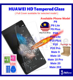 Huawei P9 P10 Lite Plus P20 P30 Mate 9 10 20 20x Pro Tempered Glass Protector